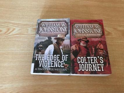 ✨ 2 Tim Colter Westerns by William W. Johnstone -PB
