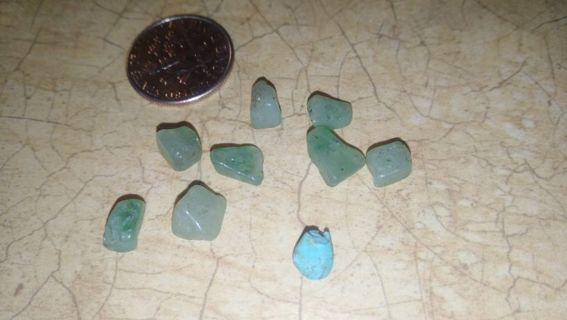 Real jade gemstones