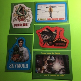 5 Little Shop of Horrors 1986 Sticker Cards!