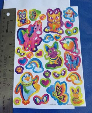 Fantastic Rainbow Animal Friends Sticker Sheet BRAND NEW