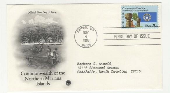 1993 FDC USA Northern Mariana Islands
