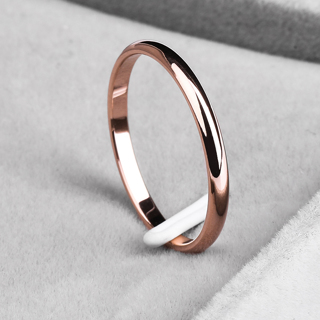 KNOCK Titanium Steel Rose Gold Anti-allergy Simple Wedding Bridal Wife Ring