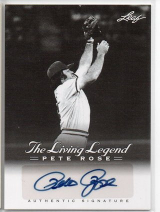 2012 Leaf Pete Rose Living Legends Autograph