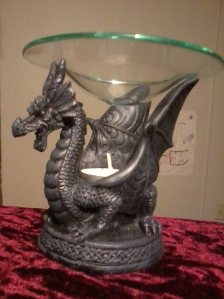 Free amazing look one more majestic dragon oil warmer heavy and very detailed gin - Dragon oil warmer ...