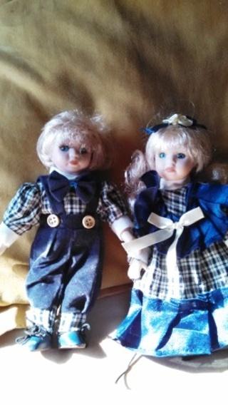 Set of Porcelain Dolls (Boy & Girl)