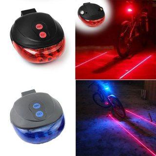 Bicycle Tail Light (5 LED+2 Laser) Waterproof Cycling Bike Light 7 Cool Flash Mode Bike Rear Lights