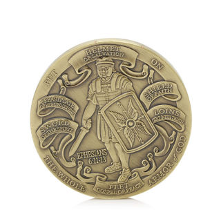 Commemorative Coin Helmet of Salvation Put , on The Whole Armor of God Collectible