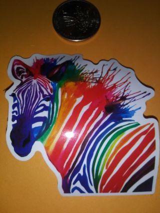Zebra vinyl sticker no refunds regular mail only low gin
