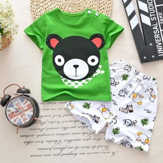 Baby boys clothes sets t-shirt+shorts 2pieces Tracksuit whale aircraft Printed Clothes newborn spo
