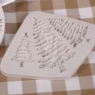 Christmas Tree Silicone Fondant Cake Mold Chocolate Gumpaste Baking DIY