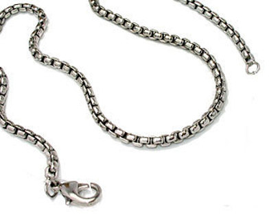 SILVER DESIGNER CHAIN 18 IN HIGH END with LOBSTER CLAW CLASP NEW HANDY CHAIN WEAR ALONE OR CHARM!!