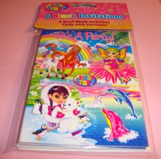 Free Brand New 6 Count Lisa Frank Blank Party Invitations