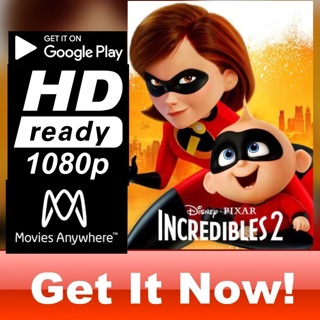 INCREDIBLES 2 HD GOOGLE PLAY CODE ONLY