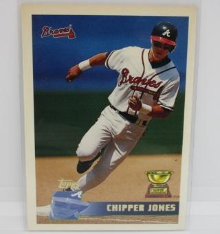 Chipper Jones, RC 1996 Topps Baseball Card #177