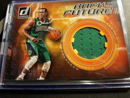 2016 Donruss Back to the future Rajon Rondo Boston Celtics jersey card #'d 005/199