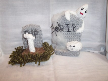 RIP  grave stones #2  with white pumpkin
