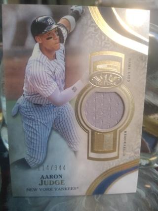 2021 Aaron Judge Jersey card #D 114/344 NY Yankees