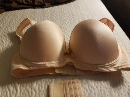 Angelina Soft Plush Push-Up Neutral Bra Size 44DDD, BNWT, Plus Extension