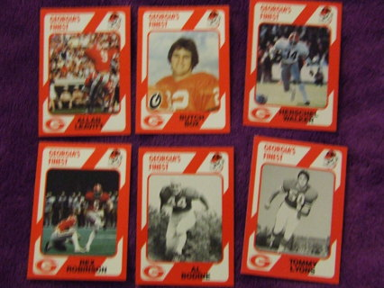 1989 Georgia Bulldogs Legends Team Card Lot Of 6