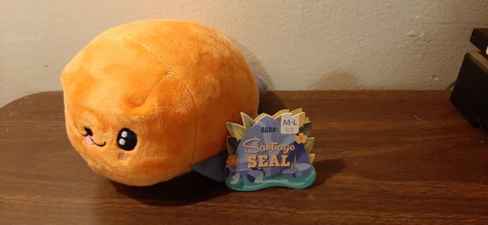 Bark Box Santiago Seal Dog Plush Chew Toy NEW Never Used