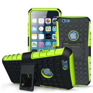 iPhone 6 Plus Case[Armor Tire] Rugged Hybrid Dual Layer Shockproof Cover Built-in Kickstand