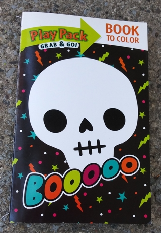 HALLOWEEN SMALL COLORING BOOK WITH STICKERS USE YOUR OWN CRAYONS