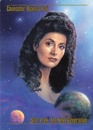 1993 Star Trek Collectible/Trade Card: The Next Generation: Counselor Deanna Troi