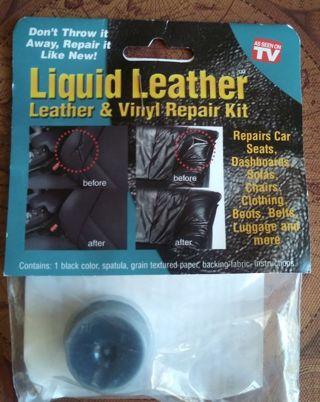 Liquid Leather Vinyl Repair Car Kit BLACK Sofa Chair Clothes Luggage Jacket