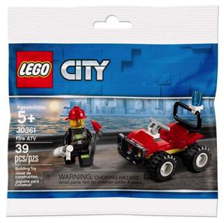 LEGO 30361 City Fire ATV Polybag ~ 39 pcs ~ NEW