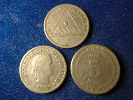 1899 1904 & 1914 OLD WORLD COINS...FULL DATES!