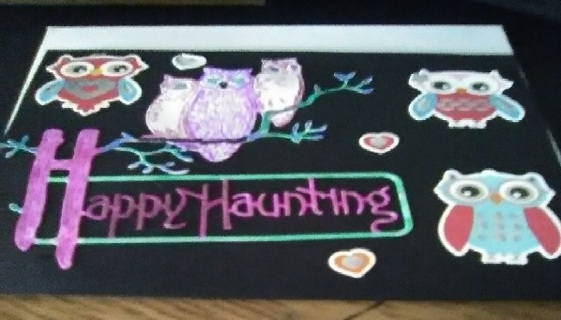 """"""" Happy Haunting"""" Design Blank Card with Envelope"""