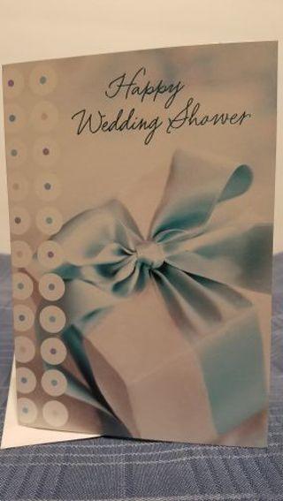 HAPPY WEDDING SHOWER CARD W/ ENVELOPE