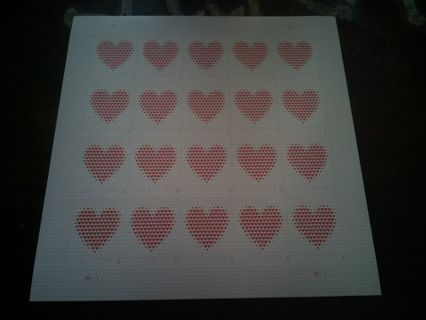 DON'S DAILY DEAL .20 VALENTINE'S FOREVER STAMPS. FULL SHEET.. 11.00 DOLLAR VALUE