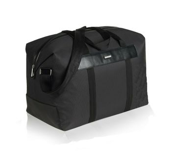 BNIP Genuine Black Men's Giorgio Armani Parfum Full Size Duffel Gym / Getaway Bag / Weekend