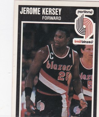 1989 Fleer Trailblazers Jerome Kersey