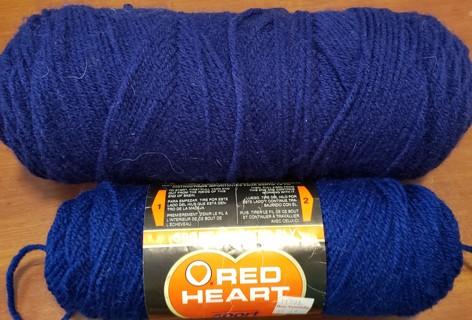 "NEW - Red Heart Sport Yarn - ""Soft Navy"" & BONUS"