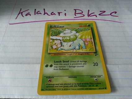 Pokemon Card Base Set 2 Bulbasaur