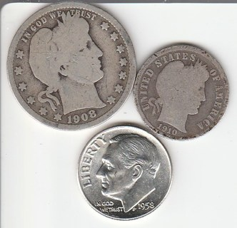 90% Silver Lot 45 Cent Face Value!