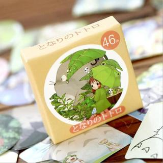 46pcs/Box Cute Totoro Mini Boxed Paper Stickers Mobile Phone Album Decoration Stickers Scrapbook C