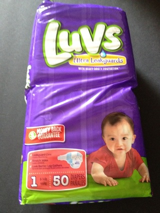 Free: Luvs ~ Size 1 ~ 50 Count Package of Diapers! Brand ...
