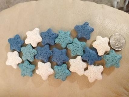 Lava Starfish Beads