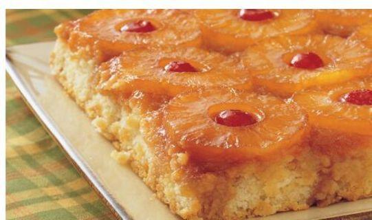 Pineapple upside- Down cake Recipe