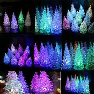 Operated Colour Changing Led Table Top Xmas Tree Party Light Hot Small Size