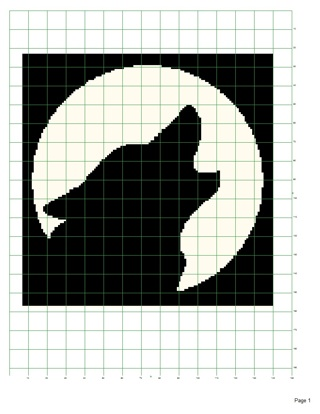 Free Wolf Silhouette Afghan Pattern Crochet Listia Auctions