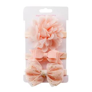 3Pcs Kids Elastic flower headband 2019 Headbands Hair Girls baby Bowknot Hairband baby girl access