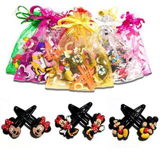 1pair/lot Cartoon Mickey Minnie Novelty Hairpins Baby Girls  Hair Clips Kids Hairgrips Headwear Ac