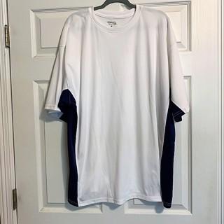 Men's White Black Vantage Tech Tee Shirt Top - Size 3X - New!!
