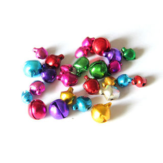 100 PCs/Lot Mix Colors Loose Beads Small Jingle Bells Christmas Decorat