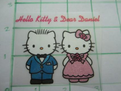 Free: hello kitty & dear daniel glitter iron on applique prom theme