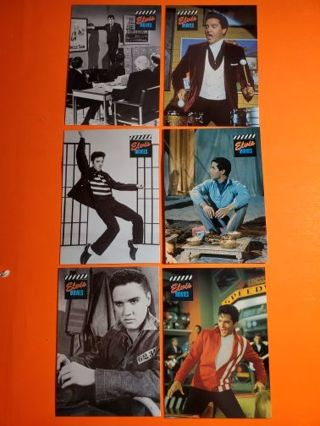 6 Elvis Cards 1992! All Movie Cards!